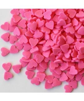 סוכריות לעוגה לבבות ורודים