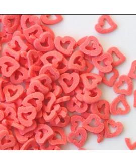 סוכריות לעוגה לבבות אדומים חלולים