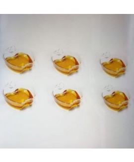 מארז צלוחיות פלסטיק בצורת תפוח