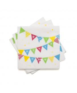 מפיות דגלים יום הולדת שמח
