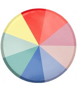 צלחות קטנות גלגל הצבעים - Meri Meri