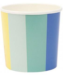 כוסות נייר נמוכות גלגל הצבעים - Meri Meri
