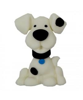 קישוט בצק סוכר - כלב לבן