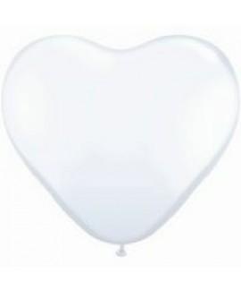 בלון גומי לב לבן