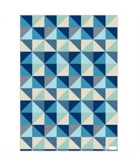 נייר עטיפה משולשים כחולים