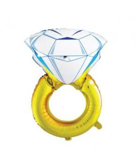 בלון טבעת יהלום