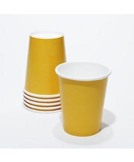 כוסות נייר צבע צהוב