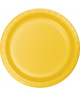 צלחות נייר גדולות צהוב
