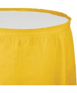 חצאית לשולחן צהובה