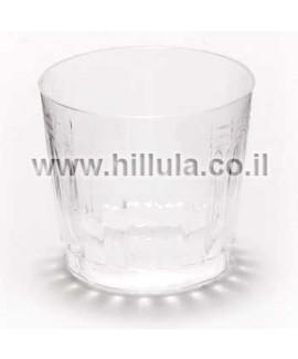 כוסות פלסטיק קשיח מעוטר ויסקי