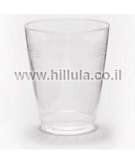 כוס פלסטיק קשיח מעוטרת