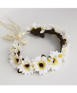 זר פרחים גדולים לבן