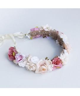 זר פרחים ורוד לבן