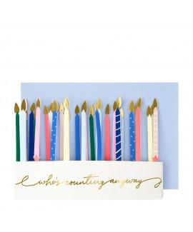 כרטיס ברכה עוגה עם נרות - Meri Meri