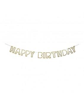 שרשרת HAPPY BIRTHDAY קונטור זהב Meri Meri