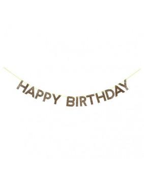 באנר זהב HAPPY BIRTHDAY- Meri Meri