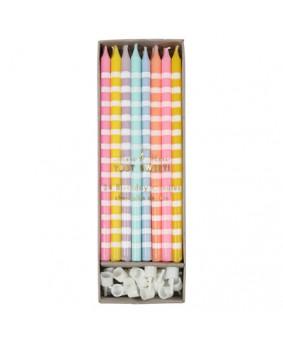 נרות צבעי פסטל ארוכים - Meri Meri
