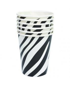 כוסות נייר ספארי- זברה