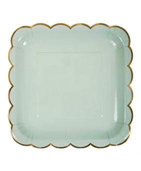 צלחות גדולות גווני פסטל 4 צבעים- meri meri