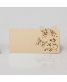 כרטיסי הושבה פרפרים קרם