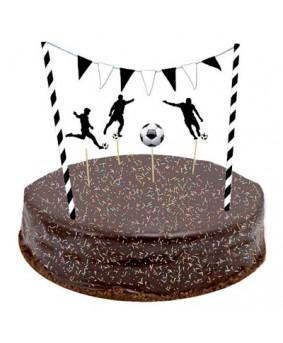 ערכת קישוטים לעוגה כדורגל