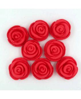 קישוט בצק סוכר ורדים אדום