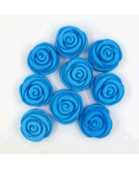 קישוט בצק סוכר ורדים כחול