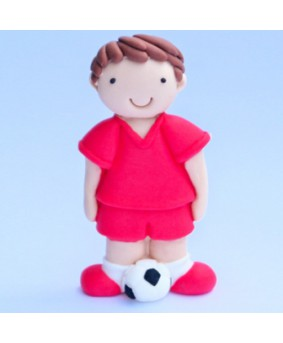 קישוט בצק סוכר - שחקן כדורגל