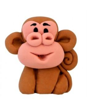 קישוט בצק סוכר - קוף