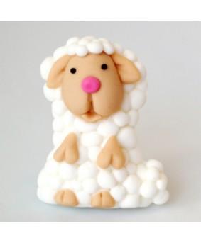 קישוט בצק סוכר - כבשה