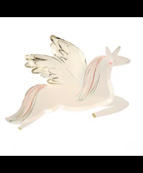 צלחות בצורת חד קרן מעופף - Meri Meri