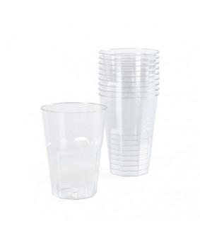 10 כוסות 'ענתיק' מפלסטיק