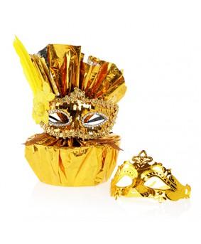 משלוח מנות כסף/זהב עם מסיכה