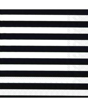 מפיות פסים שחור לבן