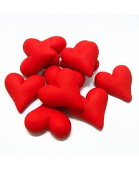 קישוט בצק סוכר - לבבות אדום