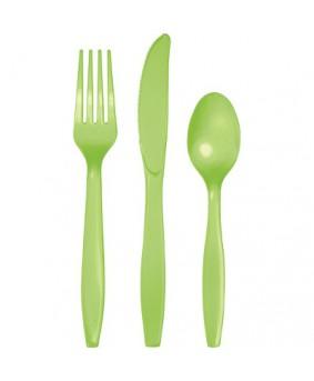 """מארז סכו""""ם פלסטיק ירוק בהיר"""