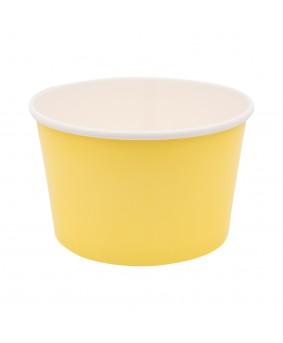 דלי בינוני מנייר צהוב מימוזה