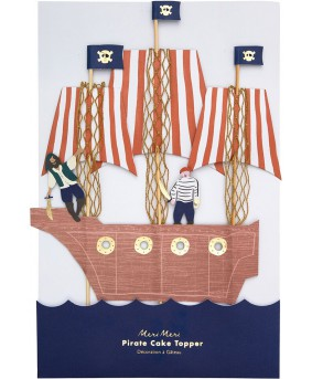טופר לעוגה ספינת פיראטים - Meri Meri