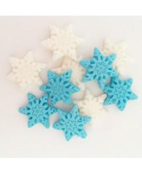 קישוט בצק סוכר פתיתי שלג