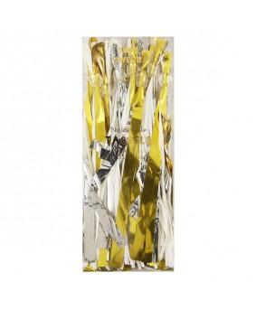 שרשרת טאסלים- זהב כסוף לבן