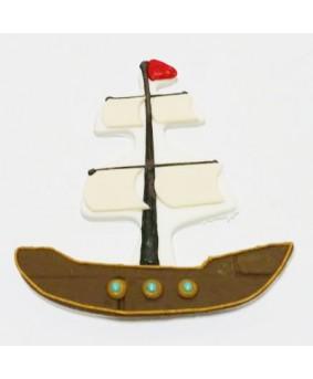 קישוט בצק סוכר - ספינת פיראטים