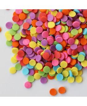 סוכריות לעוגה מיני עיגולים צבעוניים
