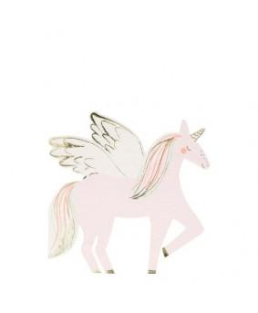 מפיות בצורת חד קרן עם כנפיים - Meri Meri