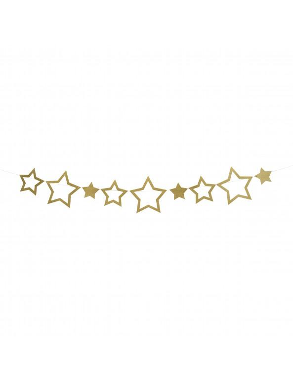 שרשרת כוכבים זהב גליטר