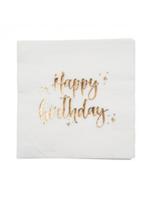 מפיות קוקטייל לבנות Happy Birthday, מפיות, מפית, מפיות קוקטייל, מפית קוקטייל, קוקטייל, מפיות ים הולדת, Happy birthday, עיצוב שולחן יום הולדת, סידור שולחן, עיצוב שולחן, סידור שולין, מפית לבנה, מפיות לבנות