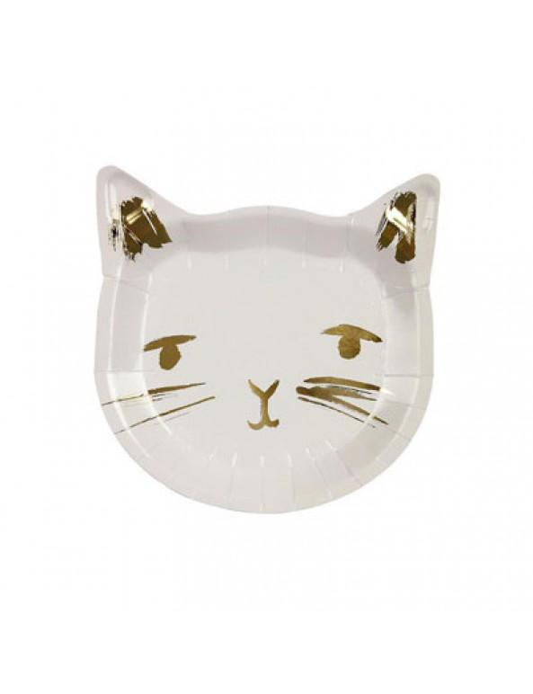צלחות חתול