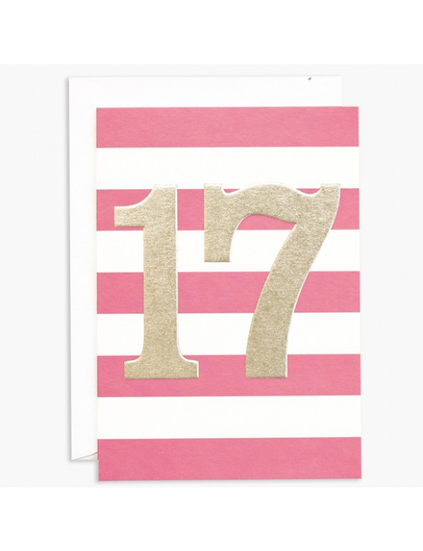 כרטיס ברכה ליום הולדת 17