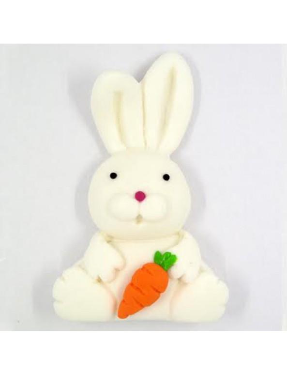 קישוט בצק סוכר - ארנב לבן
