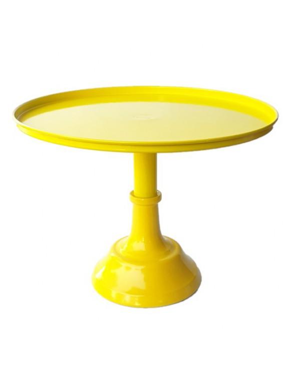 סטנד מתכת לעוגה- צהוב גדול