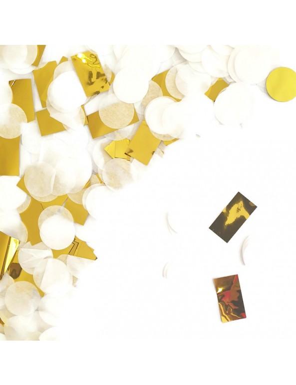 קונפטי עיגולי נייר - מנטה, זהב, לבן, קונפטי, מנטה, קישוט שולחן, סידור שולחן, קישוטים,